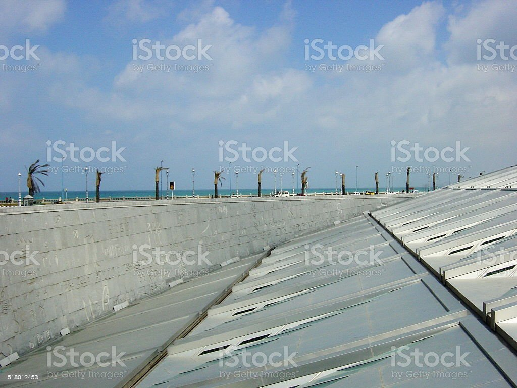 Egypt, Alexandria the pearl of the Mediterranean - The library... stock photo