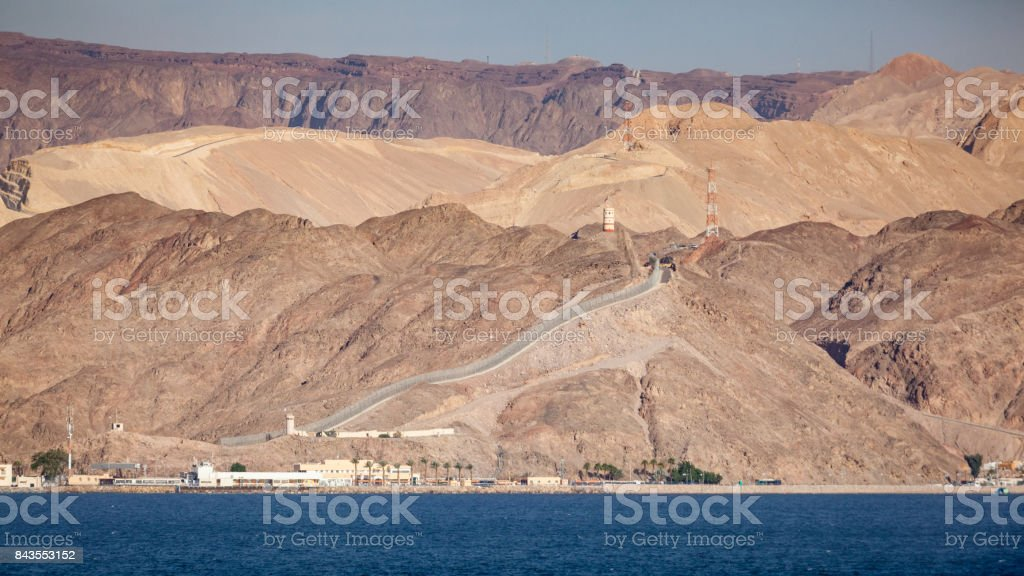 Egypt and Israel Border Red Sea stock photo
