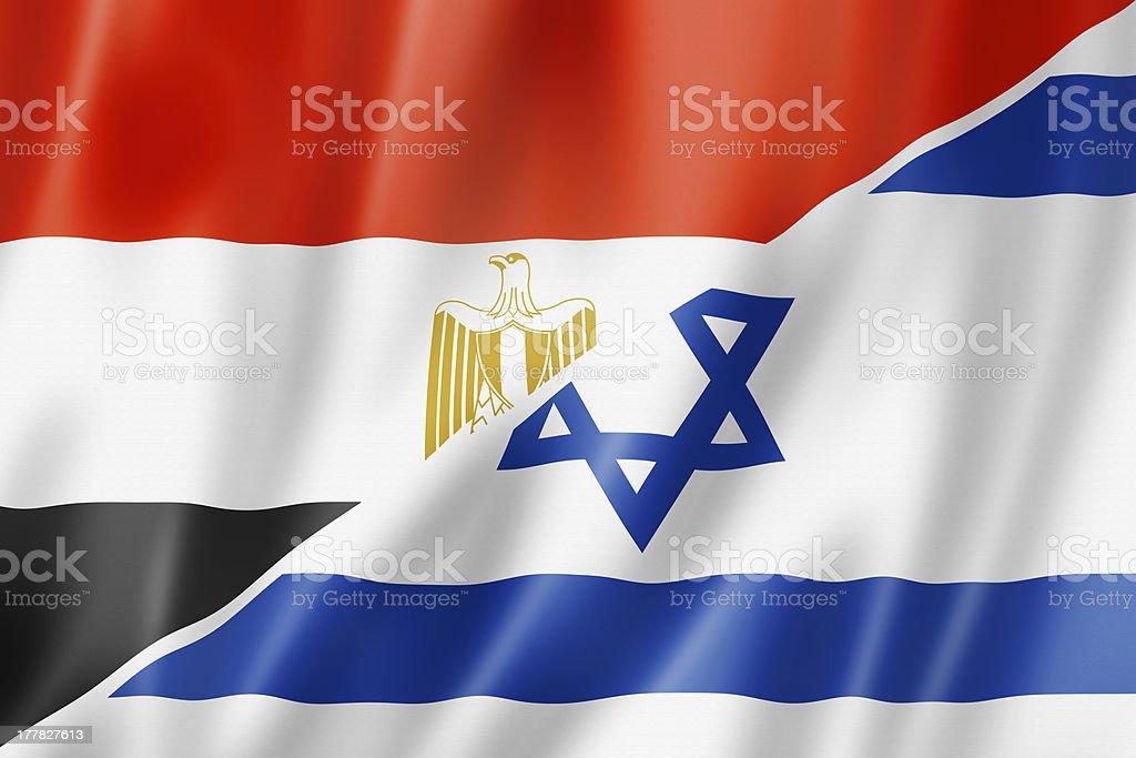 Bandera de Israel y Egipto - foto de stock