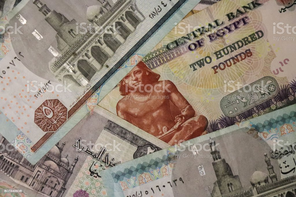 Egypt Banknotes Of Different Kinds Paper Money National