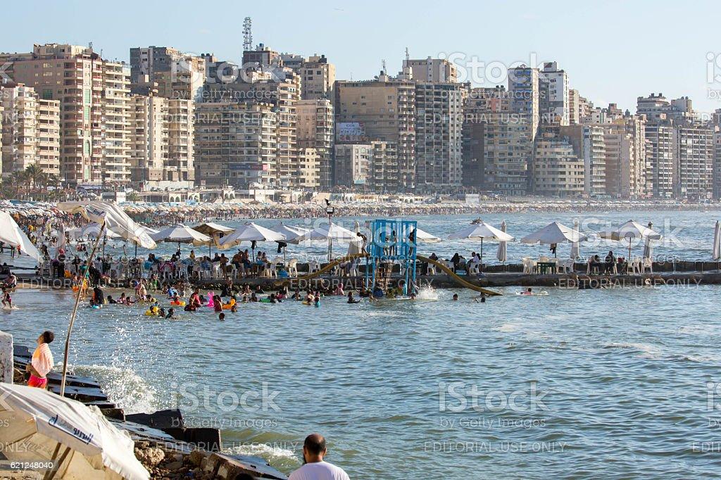 Egypt Beach At Alexandria Stock Photo Download Image Now Istock