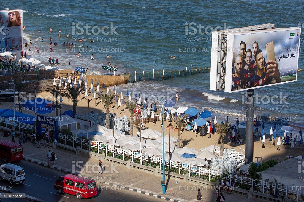 Egypt: Beach at Alexandria photo libre de droits