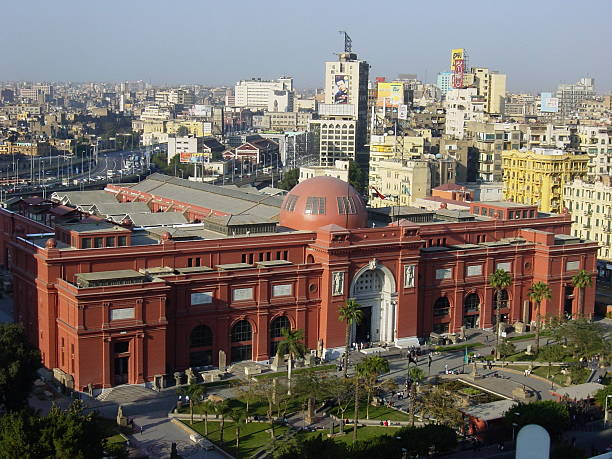 Egypt – Cairo, Egyptian Museum panoramic view... stock photo