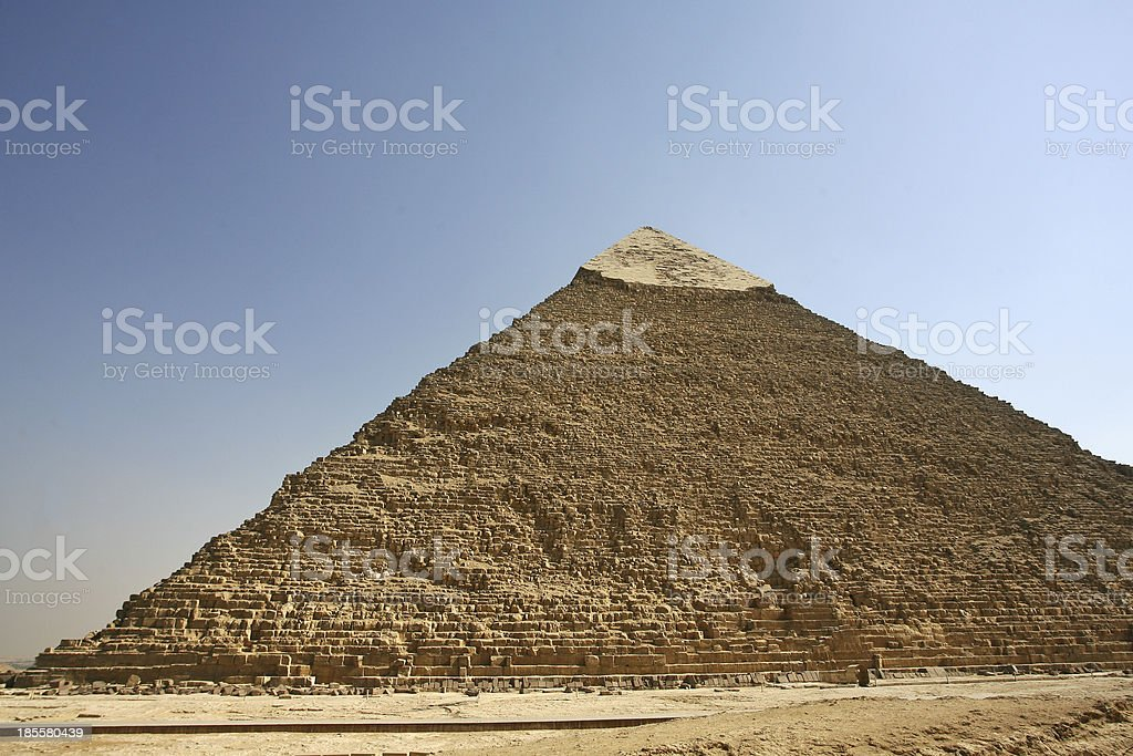 Egypt. Cairo Giza. General view of pyramids royalty-free stock photo