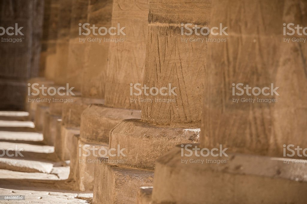 Egypt Colonnade Philae stock photo