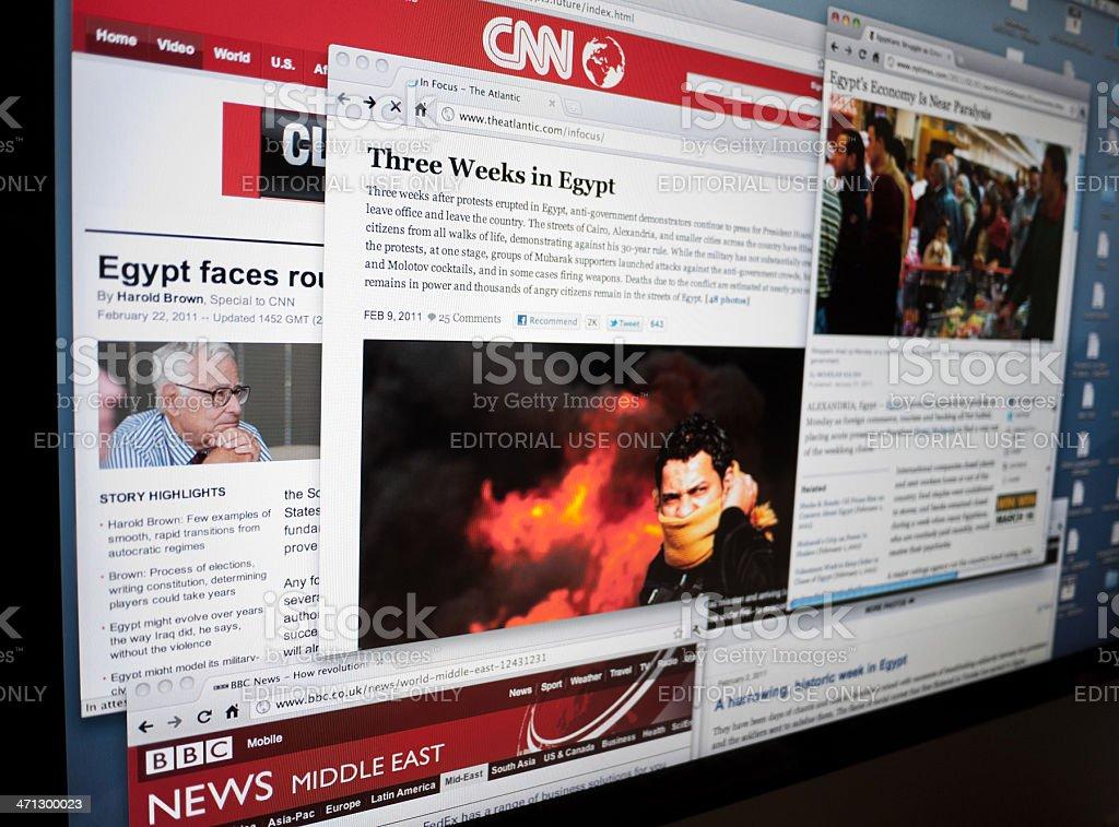 Egypt Crisis on Internet stock photo