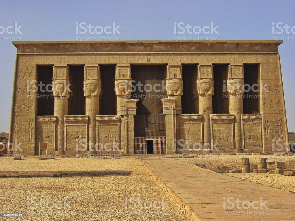 Egypt, Dendera nearby Luxor. The Temple of Hathor.