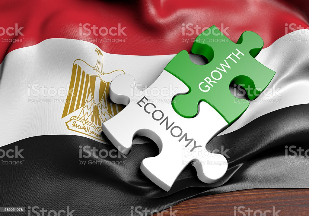 Egypt economy and financial market growth concept, 3D rendering - foto de stock