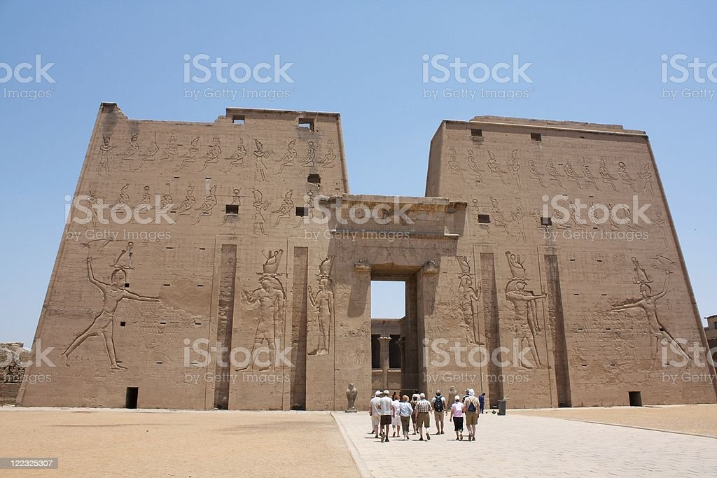 Egypt Edfu Horus Temple stock photo