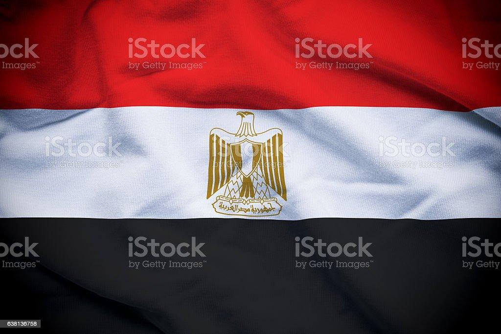 Bandera egipcia  - foto de stock