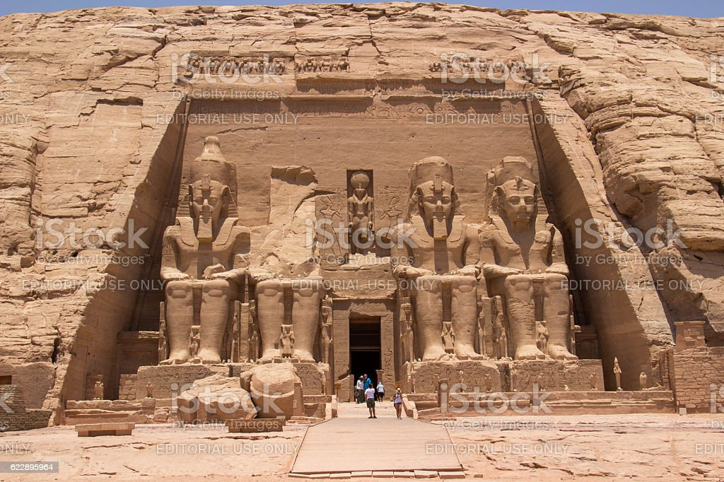 Egypt: Great Temple of Rameses II at Abu Simbel stock photo