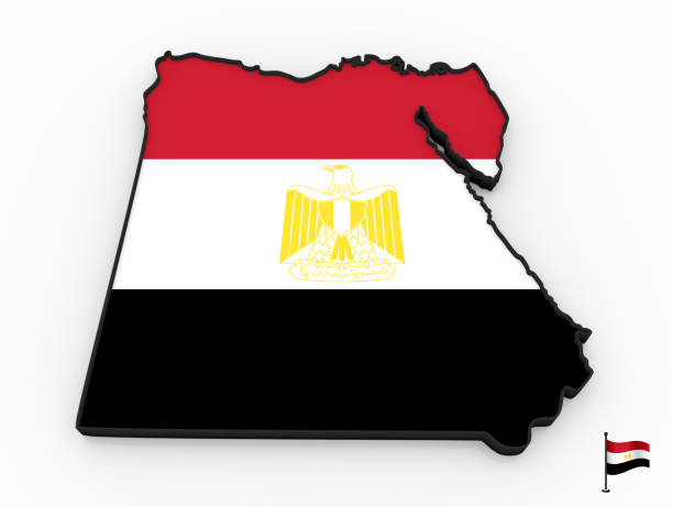 Egypt high detailed 3D map stock photo