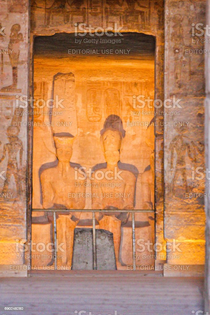 Egypt Interior of the temple stock photo