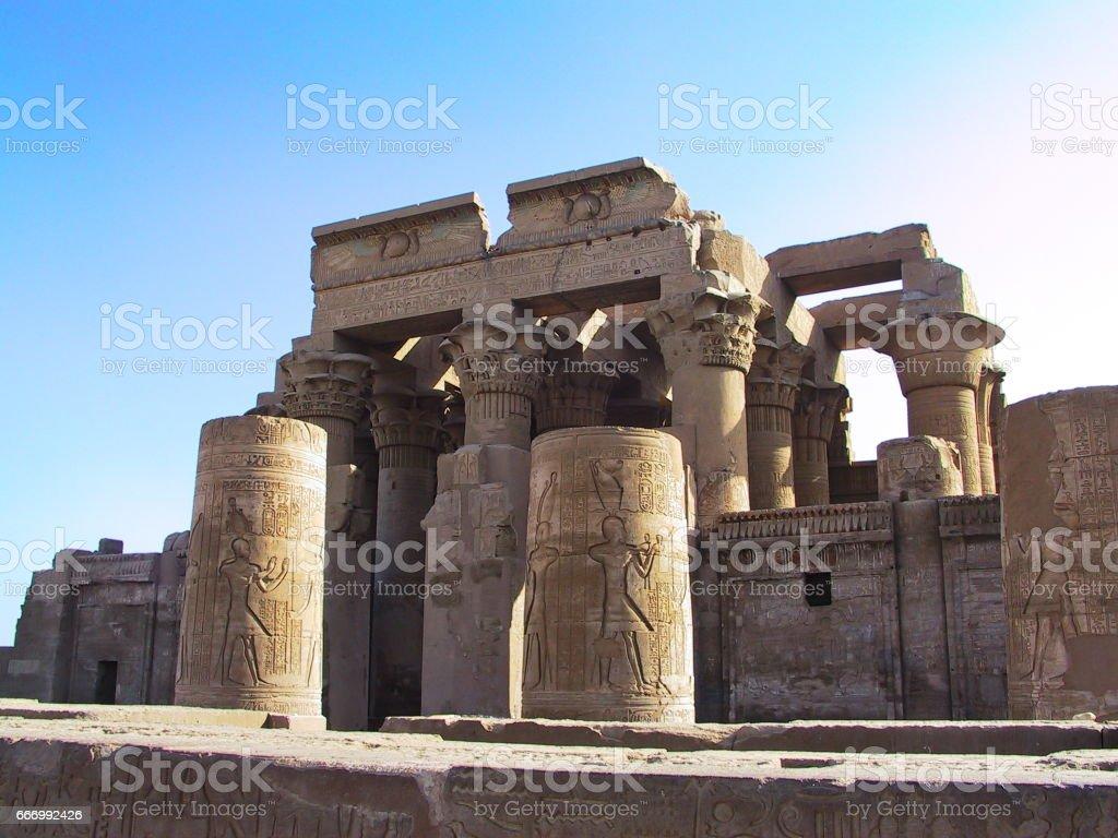 Egypt. Kom Ombo, the Sobek and Haroeris (Horus) Temple stock photo