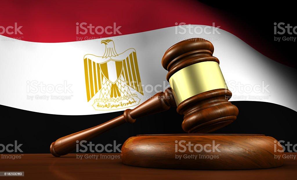 Egipto sistema jurídico concepto de ley - foto de stock