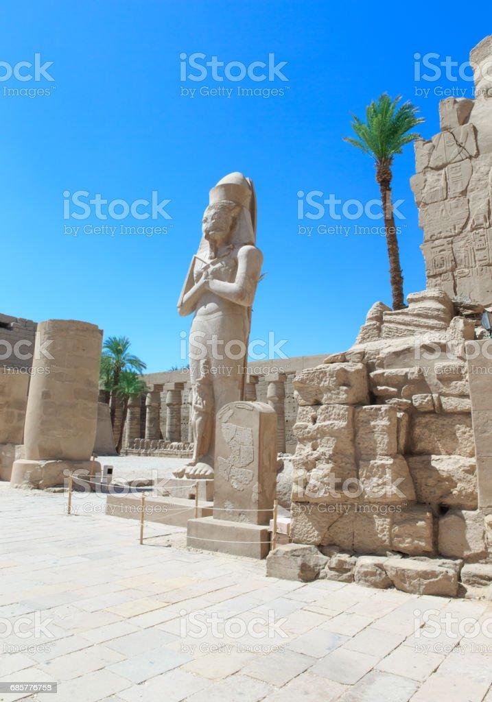 Egypt, Luxor, Karnak temple royalty-free stock photo