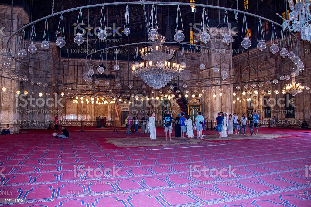 Egypt: Mosque of Muhammad Ali in Cairo stock photo