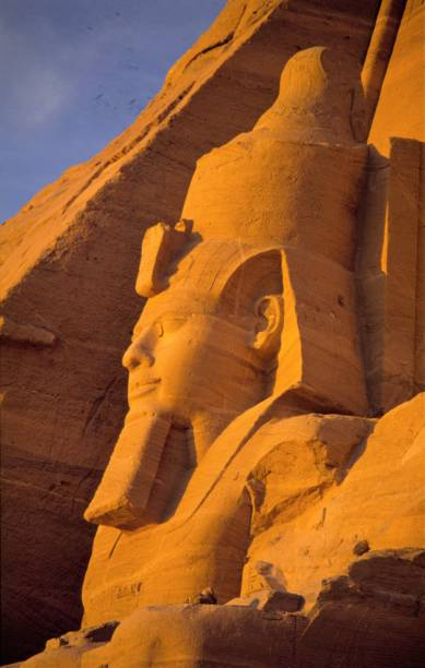 Egypt Abu Simbel Sculptures of Rameses III Tomb Of Ramses III stock pictures, royalty-free photos & images