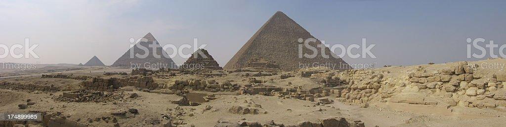LARGE FILE Egypt Pyramids Panorama stock photo