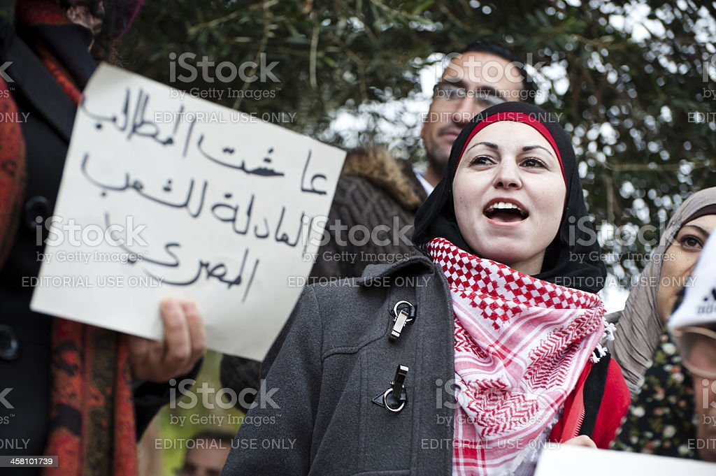 Egypt Solidarity Rally in Jerusalem royalty-free stock photo
