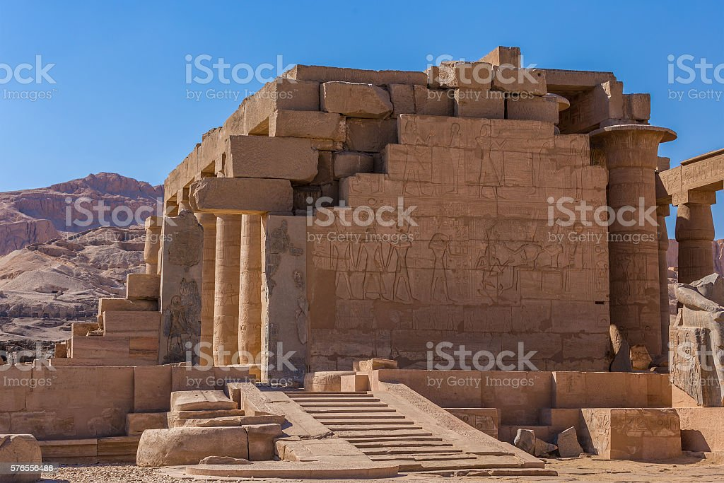 Egypt Temple carvings stock photo