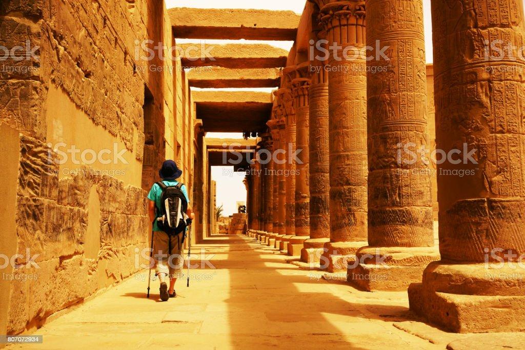 Egypt Temple of Philae stock photo
