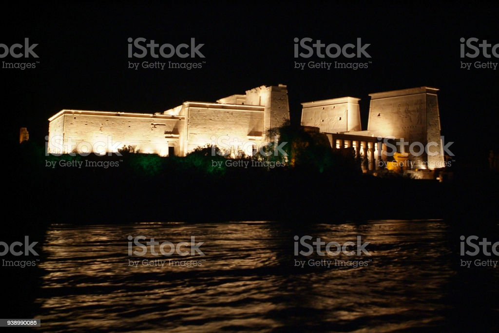 Egypt Temple of Philae stock photo