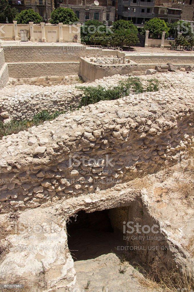 Egypt: Temple of Serapeum in Alexandria photo libre de droits