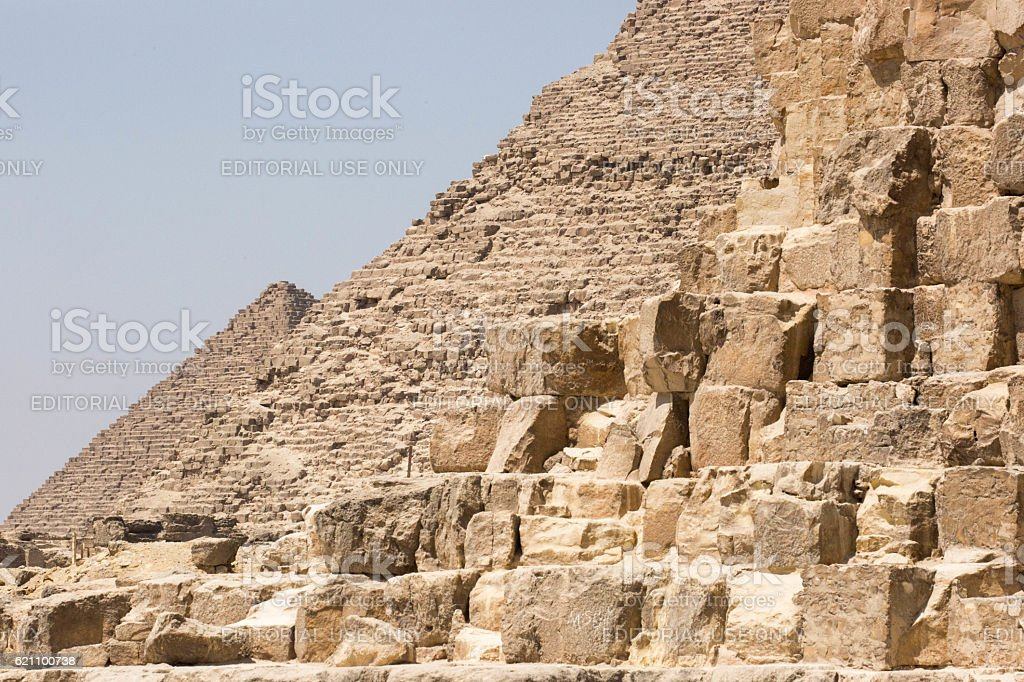 Egypt: Three Pyramids of Giza stock photo