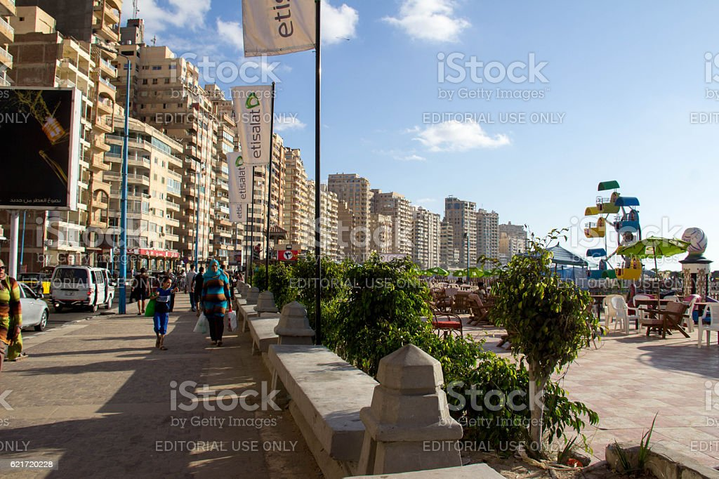 Egypt: Waterfront Hotels - foto de acervo