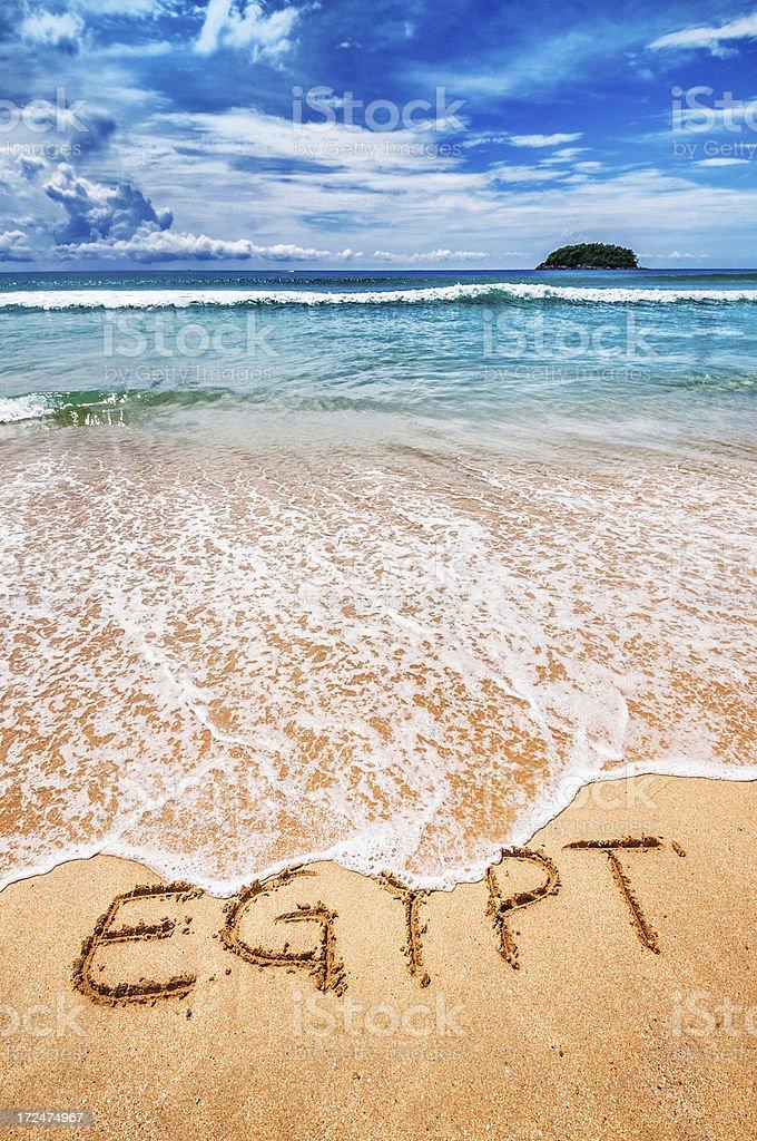 Egypt Written on the Sand stock photo