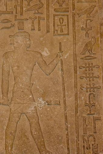 614744994 istock photo Egyptian ancient hieroglyphs on the stone wall 1131771519