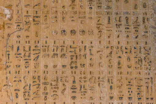 614744994 istock photo Egyptian ancient hieroglyphs on the stone wall 1132354815