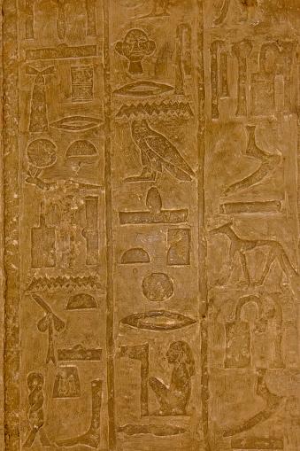 614744994 istock photo Egyptian ancient hieroglyphs on the stone wall 1152980109