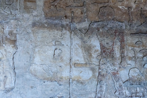 614744994 istock photo Egyptian ancient pictures on the stone wall 1152980105