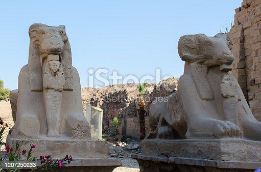 istock Egyptian Art. Karnak Temple. Around Luxor Egypt 1207250233