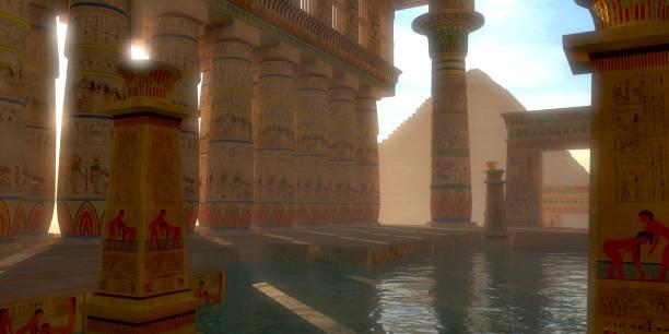 Egyptian Bath stock photo