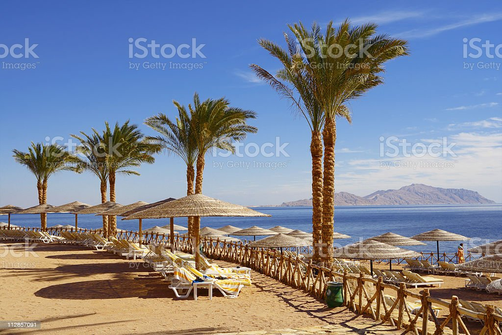 Egyptian  beach stock photo