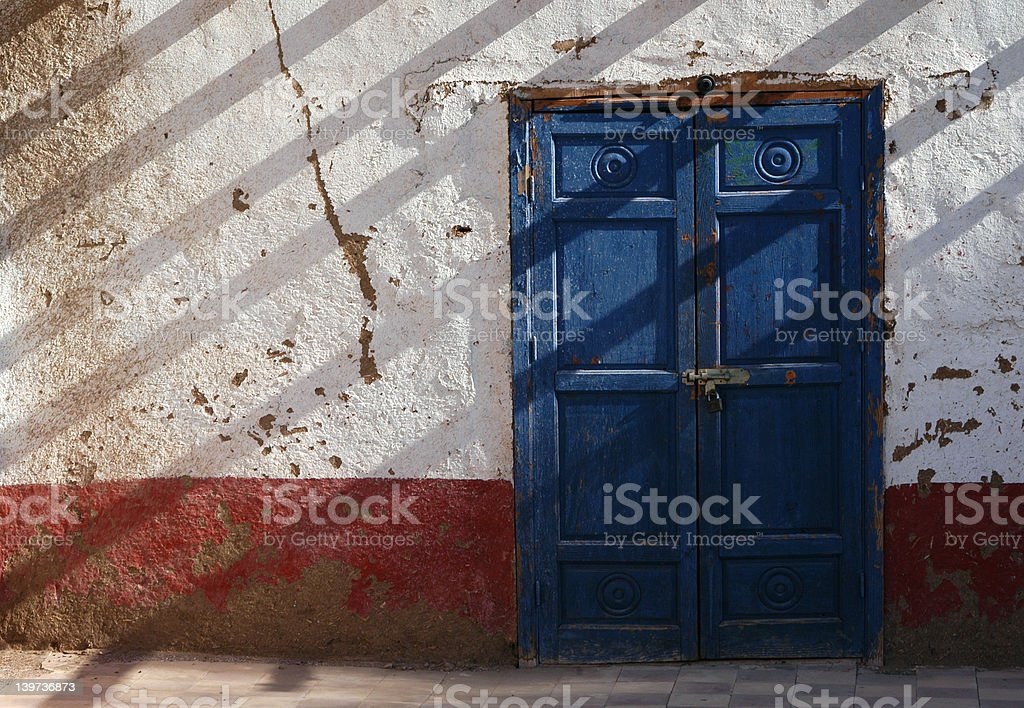 Egyptian Blue Door royalty-free stock photo