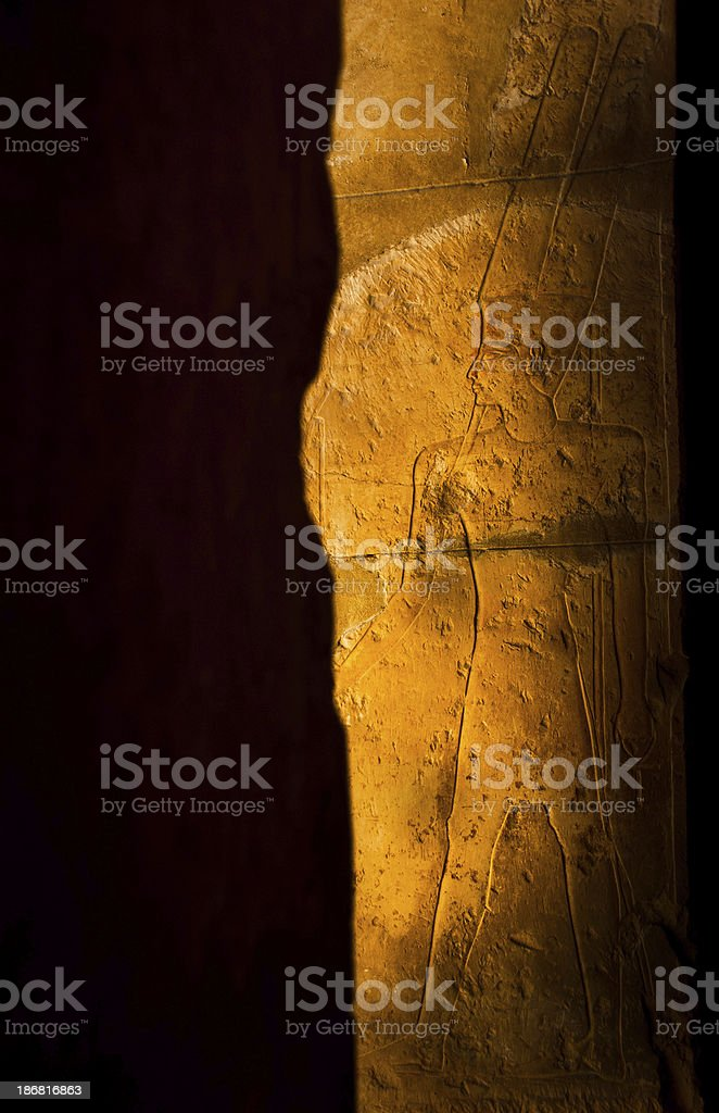 Egyptian Carvings royalty-free stock photo
