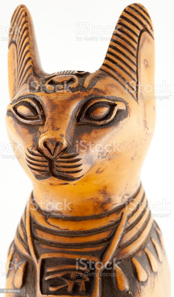 Egyptian cat head stock photo
