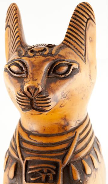 Egyptian cat head stock photo