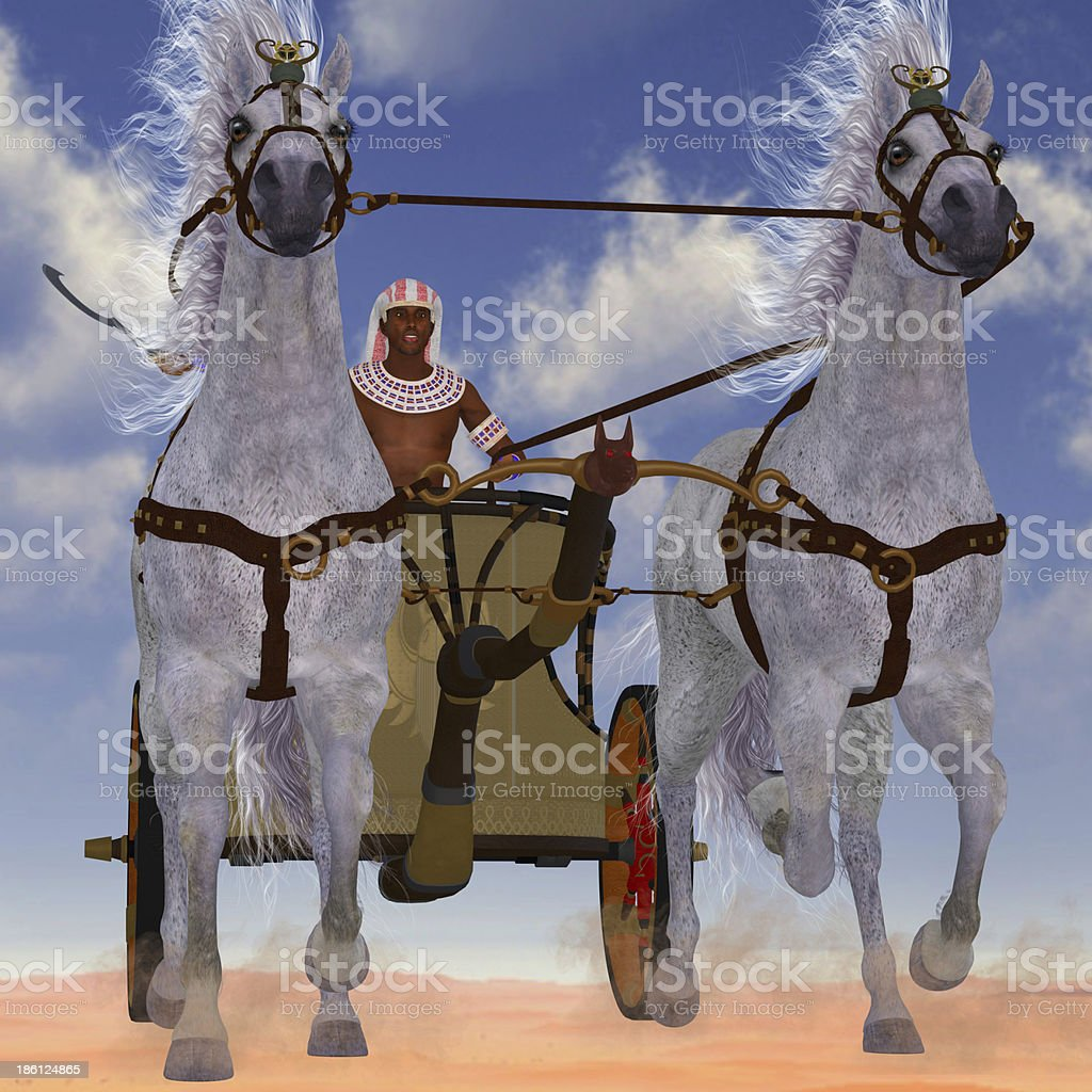 Egyptian Chariot stock photo