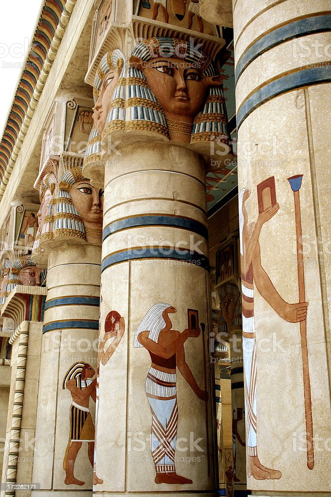 egyptian columns royalty-free stock photo