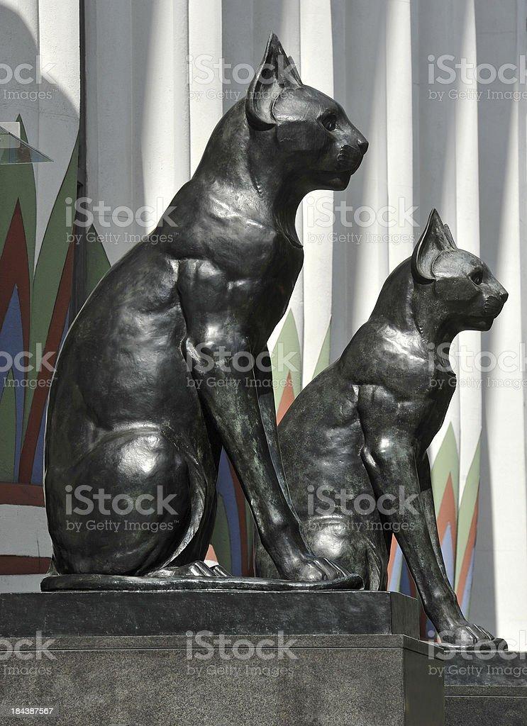 Egyptian Deco Cats stock photo