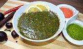 Arabic cuisine  Egyptian dish Molokhya