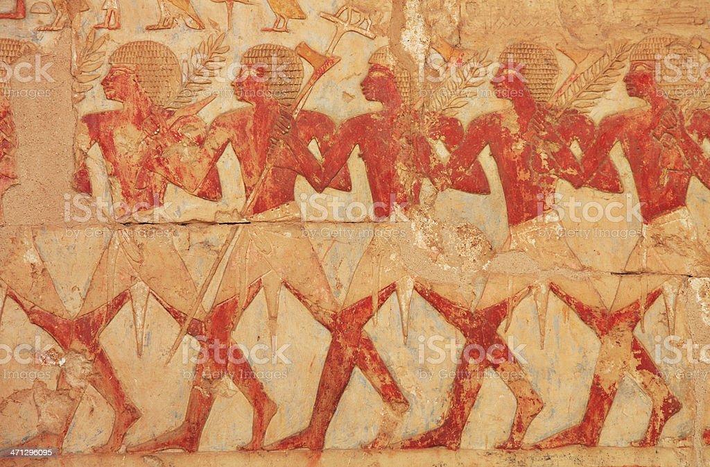 Egyptian Farmers Hieroglyphics royalty-free stock photo