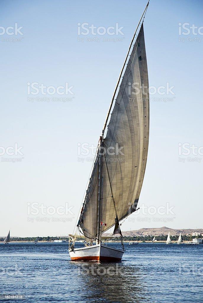 Egyptian Fellukahs on the Nile royalty-free stock photo