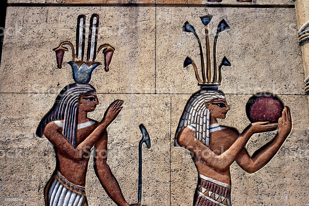 egyptian figures royalty-free stock photo