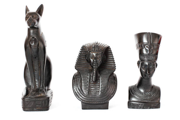 Egyptian figurines. Egyptian culture and heritage stock photo